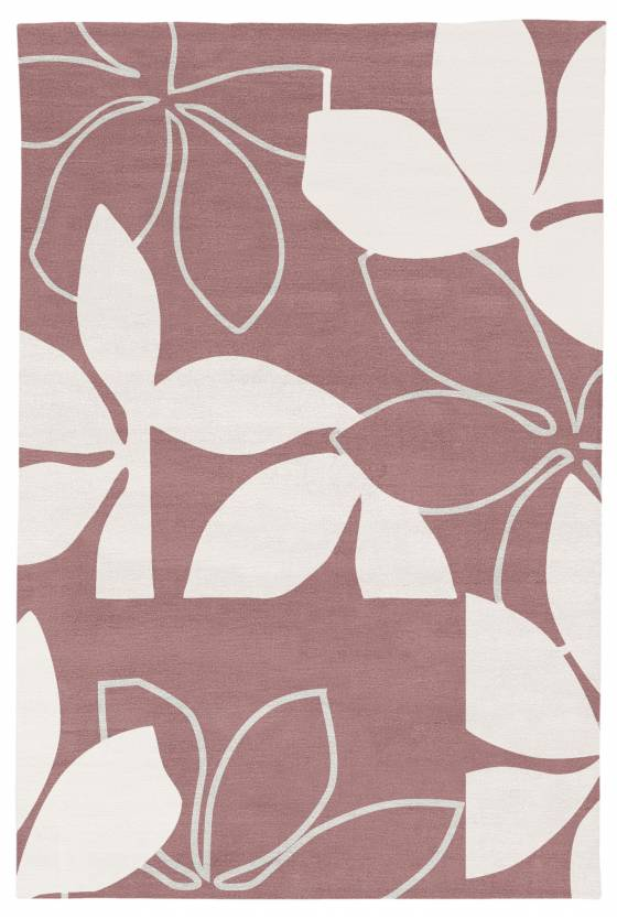 Judy Ross Hand-Knotted Custom Wool Flora Rug navy/cream