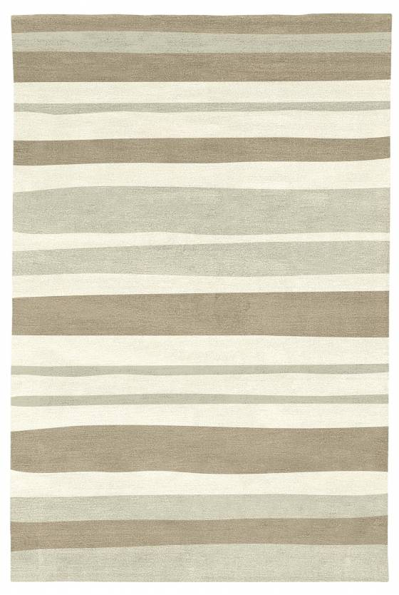 Judy Ross Hand-Knotted Custom Wool Horizon Rug black/oyster/cream