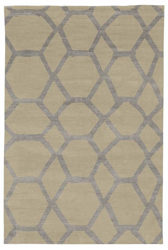 Judy Ross Hand-Knotted Custom Wool Jalli Rug asparagus/cream silk