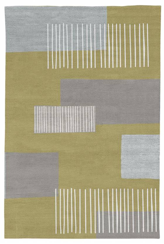 Judy Ross Hand-Knotted Custom Wool Level Two Rug grey/cream/pollen