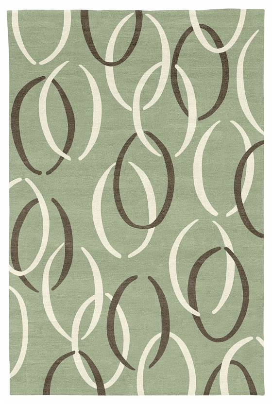 Judy Ross Hand-Knotted Custom Wool Links Rug celadon/cream/fig
