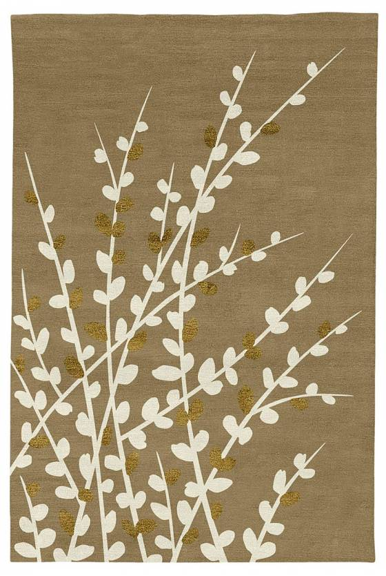 Judy Ross Hand-Knotted Custom Wool Spray Rug blonde/cream/gold silk