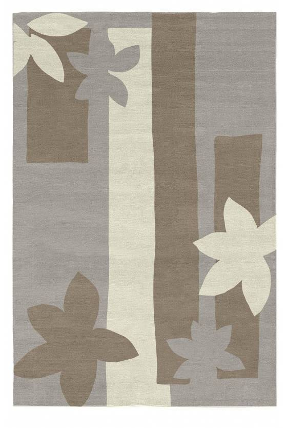 Judy Ross Hand-Knotted Custom Wool Sunset Rug smoke/pewter/cream